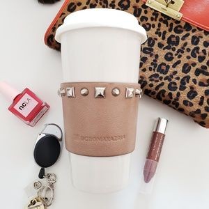 BCBG • Studded Leather Cuff Travel Mug